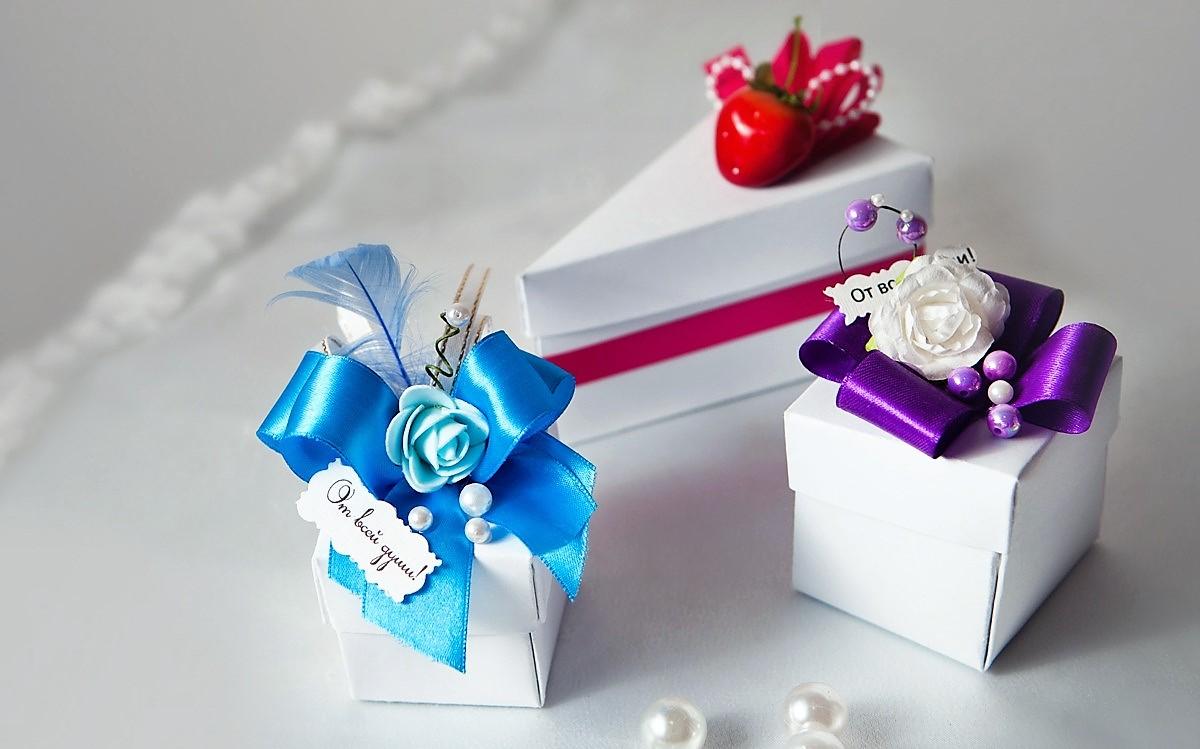 Коробочки для гостей на свадьбе